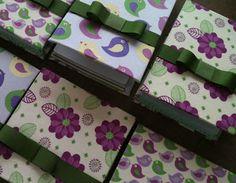 Blocos - pássaros lilas - aniversario de dois aninhos da  Elisa.
