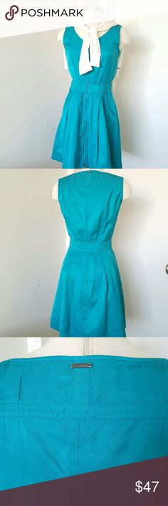 """Diesel Blue Laguna Sleeveless Dress Gorgeous dress for summer, zip down closure on the front, unlined, two pockets on the front,  53% cotton 47% rayon. Perfect with jacket or sweater. This dress was used but it is good condition. Measurements are length 33"""" bust 38"""" waist 28"""" Diesel Dresses"""