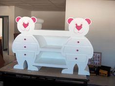 Blog Table à langer et meuble tiroir de planetecarton: L'ours en carton