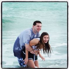 Ray and Ashlyn playing in the ocean on Christmas Day. #beach,  #Vero Beach,  #vacation