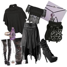 dark witch by chelsea-at-arkham on Polyvore featuring polyvore fashion style Dylan