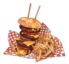 「ハート・アタック・グリル」の4段重ねハンバーガー