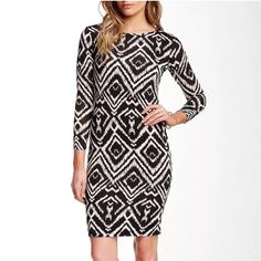 "BNWT💥T Bags 3/4 sleeve bodycon dress! Brand new with tags T Bags 3/4 sleeve bodycon dress!!  Size:  Small Color:  Multi-CO2, as pictured   Retail $179.00 Details: - Crew neck - 3/4 length sleeves - Allover print - Approx. 36"" length - Made in USA Fiber Content: 96% polyester, 4% spandex Care: Dry clean Additional Info: Fit: this style fits true to size. T-Bags Dresses"