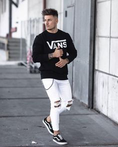 Best casual outfit by: ----------------------- Sweater: Jeans: Shoes: ----------------------- Mens Spring Fashion Outfits, Mens Fashion Wear, Dope Fashion, 50 Fashion, Fashion Menswear, Fashion Guide, Fashion Fall, Fashion Trends, Look Street Style