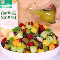Up your brunch game with the ultimate Fruit Salad with Orange Poppy Seed Dressing! I've teamed up with Florida's Natural® Orange Juice to add a citrusy kick to this breakfast staple starring seven different fruits tossed in a sweet and tangy dressing. Breakfast Fruit Salad, Best Fruit Salad, Fruit Salad Recipes, Breakfast Healthy, Recipes With Fruit, Salad With Fruit, Poppy Seed Fruit Salad, Brunch Salad, Fruit Fruit