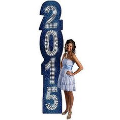 Make your party sparkle with this Denim and Diamonds 2015 Column. Each column is printed on cardboard measuring 7 feet 9 inches high.