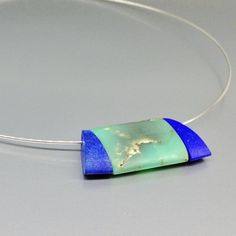 Modern necklace Chrysoprase with Lapis Lazuli parts and reef - gift idea - holiday season by gemorydesign. Explore more products on http://gemorydesign.etsy.com