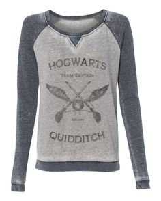 Harry Potter Hogwarts Quidditch Team Captain super soft burnout style womens pullover sweatshirt ladies girls