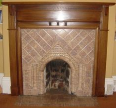 Really fabulous 1920s tiled fireplace
