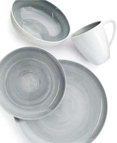 The Mikasa Savona Grey Collection of fine china from @macys is 50 shades of gorgeous!