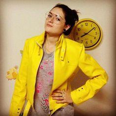 Jaqueta de couro - Amarela - Edição Limitada - R$230.00