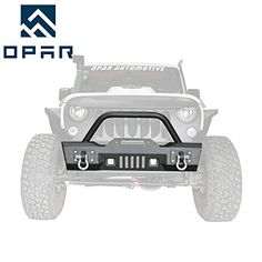 Opar Stubby Full Width Front Bumper w/ LED Lighting for 2007-2018 Wrangler JK & Wrangler Unlimited