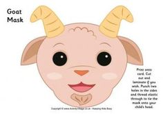 Goat Mask Printable and many more animal masks