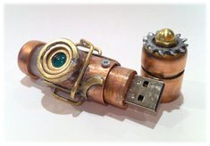 Steam Punk Flash Drive - give me this please. I want this so badly.