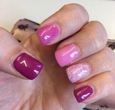 Spring gradient gel nails.