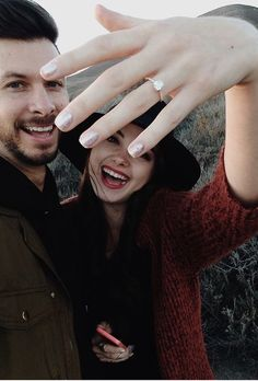 Brides.com: . Whether it's a self-taken photo of you kissing your fiancé or a cute snapshot of your hair and makeup, selfies are everywhere. (Kim Kardashian West is even releasing an entire book dedicated to them!) Unsurprisingly, our favorite kind is the engagement-ring selfie — a self-portrait where brand-new bridal bling takes center stage! Many brides-to-be choose to announce their engagement with one of these selfies posted to Instagram, Twitter or Facebook, while others just like ...