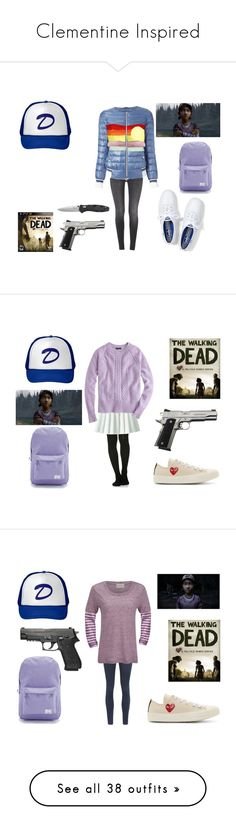 """""""Clementine Inspired"""" by arianagrandeonfleek ❤ liked on Polyvore featuring thewalkingdead, TWD, clementine, thewalkingdeadgame, twdg, Keds, 7 For All Mankind, Herno, ONLY and Manuel Ritz"""