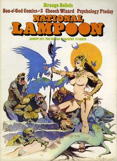 National Lampoon 8 / The Humor Magazine / cover August 1973 / 1972 (Frank Frazetta)