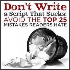15 Screenwriting Mistakes to Avoid: This Scene Sucks - by Timothy Cooper Script Magazine Script Writing, Writing Advice, Writing Resources, Writing Help, Writing A Book, Script Reader, Writers Write, Writing Process, Screenwriting