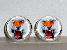 Ohrstecker - Ohrstecker Tiger Ohrringe Damen Ohrschmuck Glas - ein Designerstück von ausgefallene-Ohrringe bei DaWanda