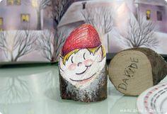 mami chips & crafts: Elfo segnaposto in legno