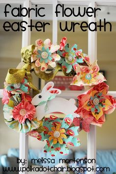 EASTER WREATHS | Tutorial: Spring Flowers Easter Wreath - The Polkadot Chair
