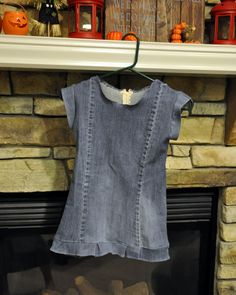 Turning Stones Blog: Upcycle: Torn Jeans to Girl's Dress