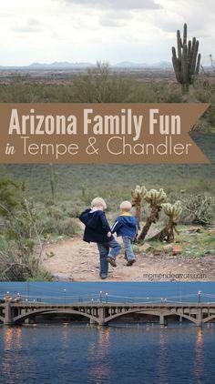 Family fun places in Tempe & Chandler, Arizona! #familytravel
