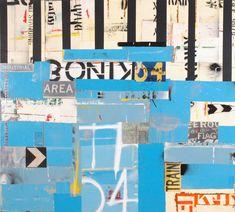 Michael Jeffery, Australia (b.1965) • Black and Blue 2006 • Acrylic paint skins and spray enamel on canvas • Gift of Andrew King • 2007.022 #AustralianArt #ArtCollection Australian Art, Street Signs, South Australia, Asian Art, Metal Working, 2d, Contemporary Art, Abstract Art, Enamel