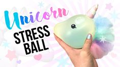 DIY Unicorn STRESS BALL!! Make A Sparkly and Squishy Stress Ball!