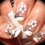 Special Occassion Nail Art Design Tutorial GOLD & WHITE! Repined by Aline
