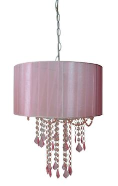 Tadpoles 1 light pink chandelier shade chandelier shades tadpoles one light shaded chandelier sleeping partners home fashions drum pendant lighting mozeypictures Gallery