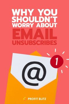 Worried about people unsubscribing from your email list? Inbound Marketing, Business Marketing, Email Marketing, Content Marketing, Online Business, Digital Marketing, Mobile Marketing, Business Tips, Internet Marketing