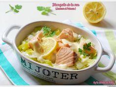 Recette Plat : Blanquette de la mer: saumon-poireau (sauce vin blanc-comté) par LaDinetteDeNelly