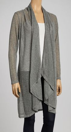 Gray Long Open Cardigan. LOVE!!!