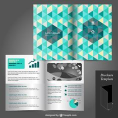 Triangle Cover Brochure Mock-up (Ai Download) | Lazy Drawing