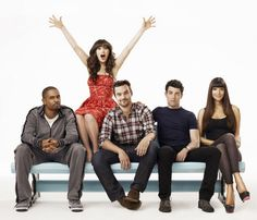 New Girl! jess and her songs, schmidt and his cardi, nick and his too cool voice, cece and her dirty pudding hands, and the new coach. love it all!