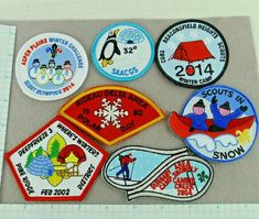 Lot of 7 Cub Boy Scout Badges Patches Winter Camp And Events Canada Cub Scout Badges, Cub Scouts, Girl Scouts, Cub Scout Patches, Boy Scout Camping, Pin Card, Cool Patches, Vintage Boys, Merit Badge