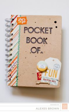 Pocket Book Of. by dearlexedesigns at Book Journal, Journals, Basic Grey, Studio Calico, Amazing Adventures, Smash Book, Mini Albums, Scrapbook, Books