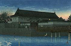 "Japanese Art Print ""Hirakawa Gate"" by Kawase Hasui. Shin Hanga and Art Reproductions http://www.amazon.com/dp/B01E8QS5US/ref=cm_sw_r_pi_dp_Dl5dxb1R9D6TH"