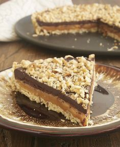 A pecan shortbread crust, a gooey layer of caramel, and a rich chocolate ganache make this Turtle Tart a can't-miss dessert! - Bake or Break