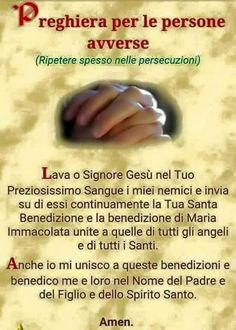 preghiera per le persone avverse Spiritual Thoughts, Spiritual Quotes, Catholic Prayers, Persona, Faith, God, Virgin Mary, Relax, Fitness
