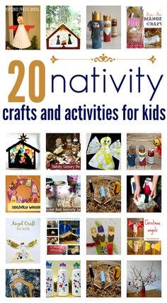 Perfect before dinner activity! Nativity crafts. Great crafts for Christmas and Sunday School.