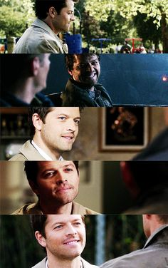 Pinning this to destiel because 90% of the time Cas smiles it's because of Dean
