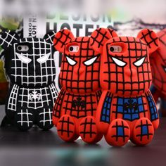 I found 'New Chic Glam Korean POPOBE Bear Spiderman Silicone iPhone Case Cover' on Wish, check it out!