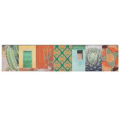 CALIENTE cactus patchwork canvas 20 x 90 cm | Maisons du Monde | Havana Nights