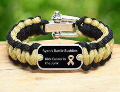 Bracelet benefiting Ryan's Battle Buddies
