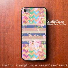 FLORAL IPHONE 5S CASE Chevron Stripe Colorful Girly IPhone Case ...