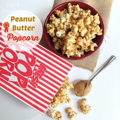 Yummy Peanut Butter Popcorn - Joyful Homemaking