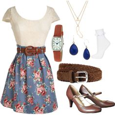 A fashion look from May 2014 featuring short-sleeve dresses, ruffle socks et merona shoes. Browse and shop related looks.